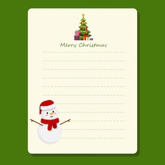 Christmas holiday to do lists notes with winter template
