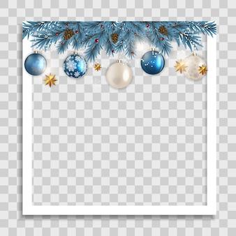 Рождественский праздник фоторамка шаблон.