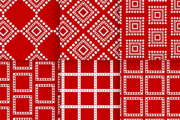 グリーティングカードデザインのクリスマス休暇の赤いパターンの背景テンプレート。