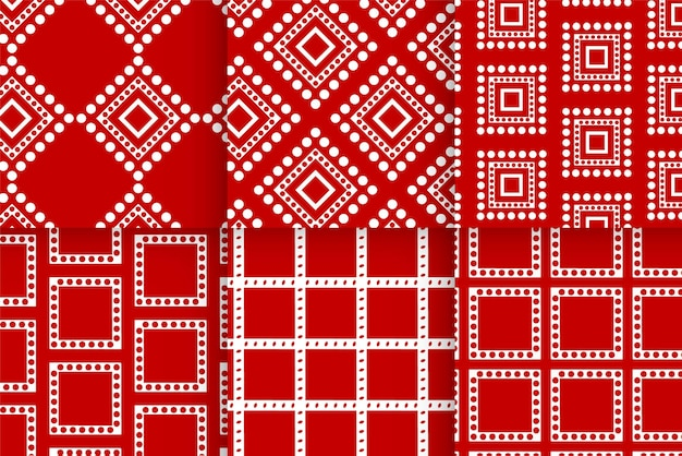 Christmas holiday red pattern background template for greeting card design.