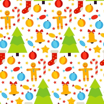 Рождественский праздник бесшовные модели. векторные иллюстрации. с новым годом фон.