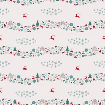 Christmas holiday seamless repeat pattern