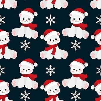Christmas holiday season seamless pattern.