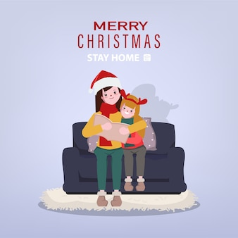 Christmas holiday and stay at home with family.