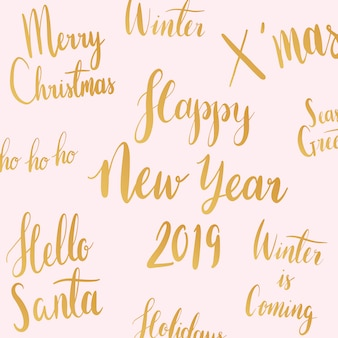 Christmas holiday typography style vector