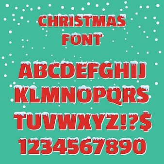 Christmas holiday vector red font
