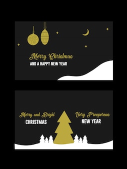 Christmas and holiday wishes invitation  greeting card