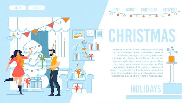 Christmas holidays landing page