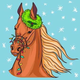 クリスマスの馬