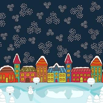 クリスマスハウスの背景