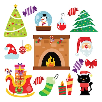 Christmas icon, elements and decoration