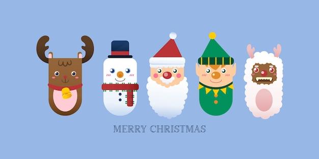 トナカイとクリスマスアイコン