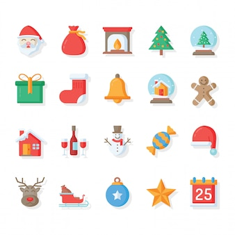 Christmas Icon.Christmas Icons Collection Vector Free Download