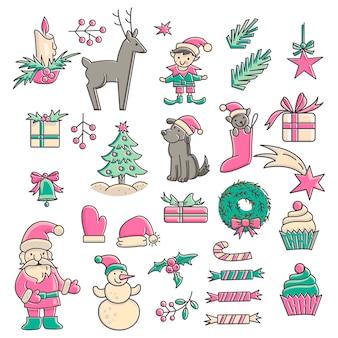 Рождественская коллекция значков