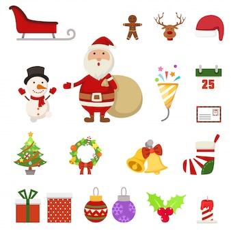 Christmas icons,illustration