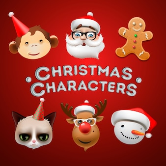 Christmas icons, objects, holiday decoration,