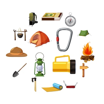 Christmas icons set, isometric 3d style