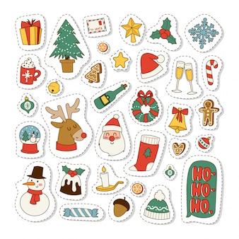 Christmas icons symbols  set.