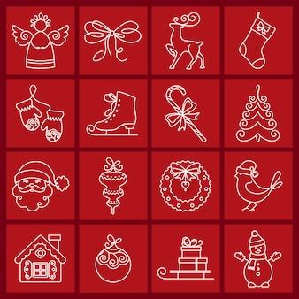 クリスマスのアイコン