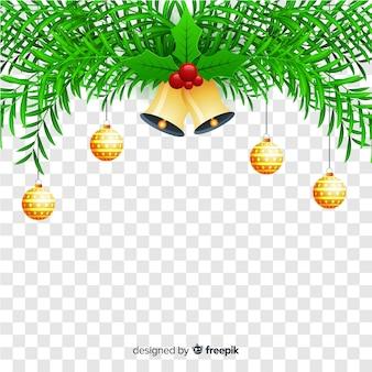 透明な背景のクリスマス