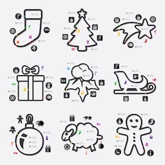 クリスマスのinfographic