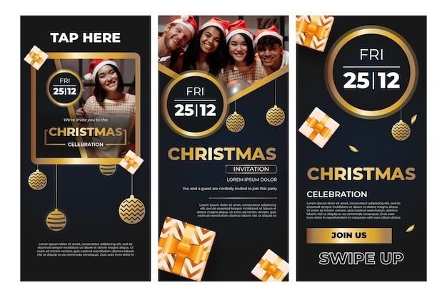 Рождественские истории instagram