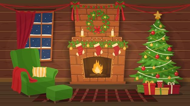 クリスマスの室内装飾