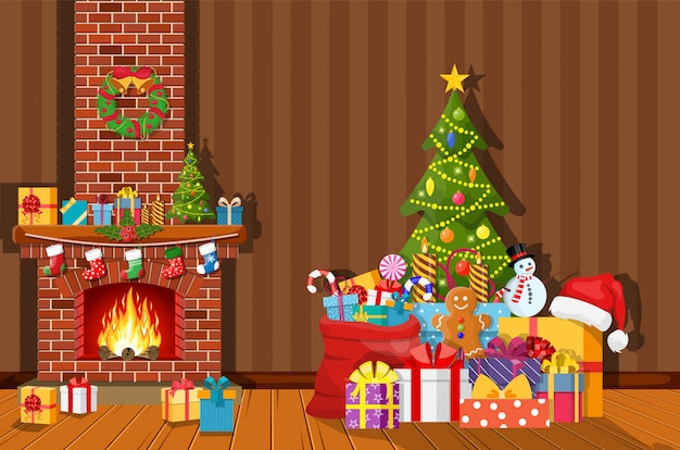 部屋のクリスマスインテリア