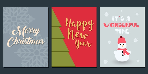 Christmas invitation and greeting template.