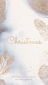 Modello di carta da parati per iphone di natale, vettore di design per le vacanze festive