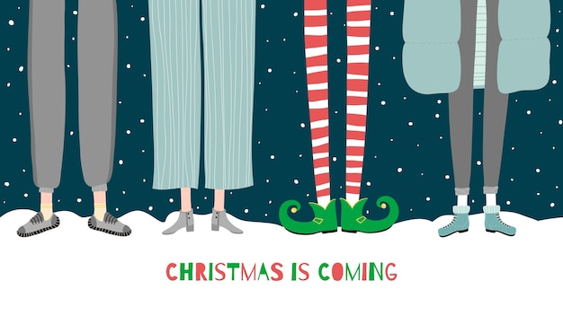 Christmas is coming illustration