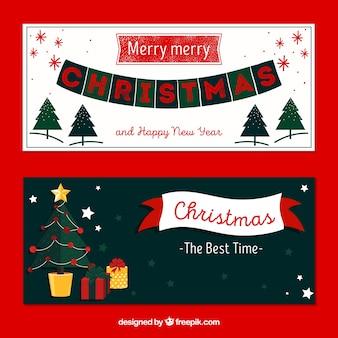 크리스마스는 최고의 시간 배너입니다