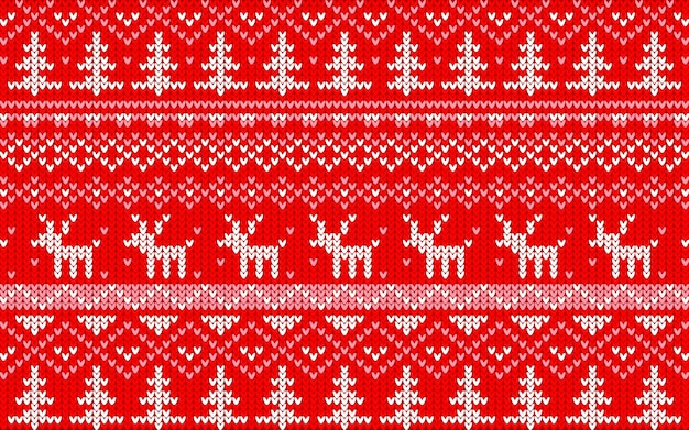 Christmas jaquard pattern red and white
