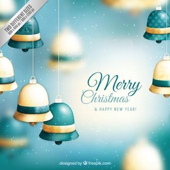 Рождество колокольчики фон