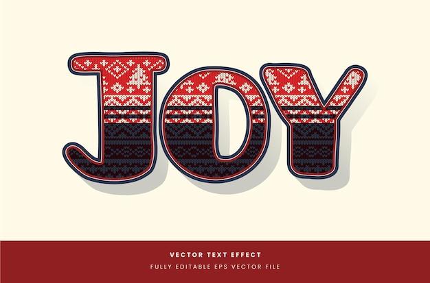 Effetto testo maglione natalizio