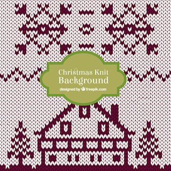 Christmas knit house background