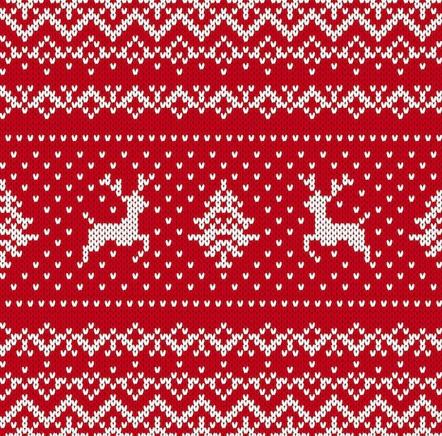 Christmas knit pattern.