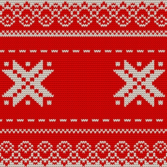 Christmas knitted background.