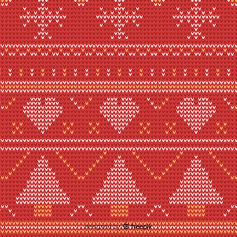 Christmas knitted elements pattern