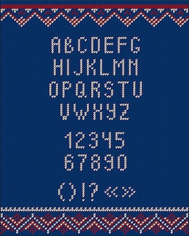 Christmas knitted font ugly sweater style for design