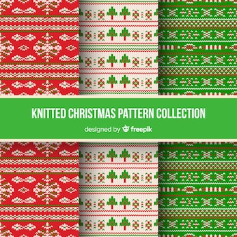 Christmas knitted pattern collection