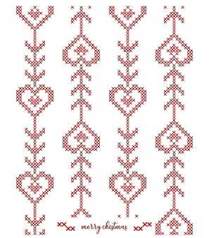 Christmas knitted  pattern desig