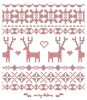 Christmas knitted  pattern design