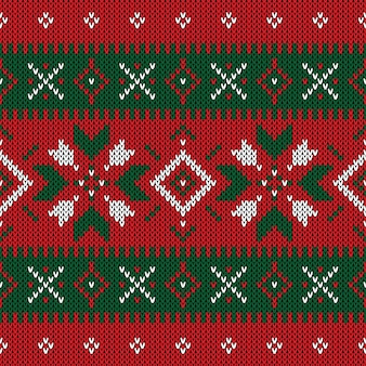 Christmas knitted pattern. winter geometric seamless pattern.