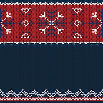 Christmas knitted pattern.