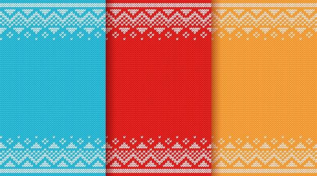 クリスマスニットのシームレスパターン。
