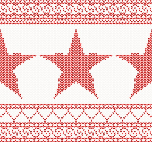 Christmas knitted  with star.