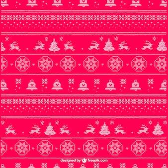 クリスマス編みパターンベクトル