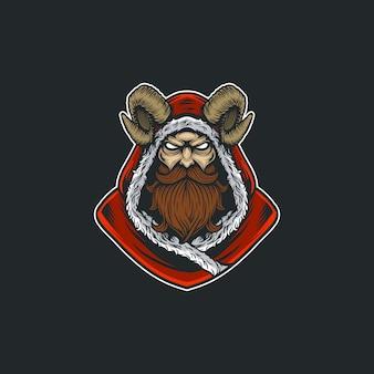 Christmas krampus character design