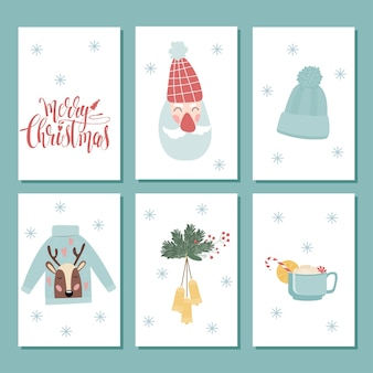 Christmas label clipart. christmas shop tag set. christmas doodle handcrafted